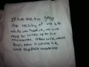 my inspirational napkin