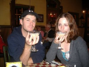 """Greg and I with our """"Fancy Drinks"""""""