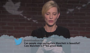 "from ""Mean Tweets"" series on Jimmy Kimmel"